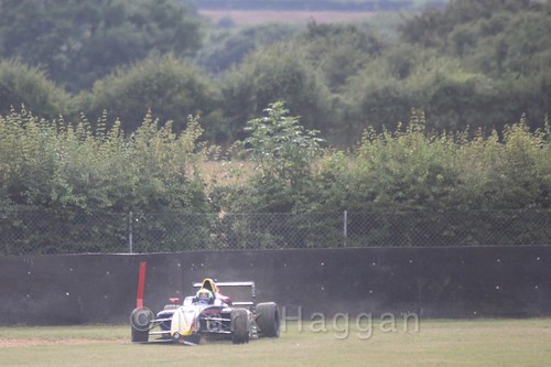 Luis Leeds goes off during British Formula 4 during the BTCC 2016 Weekend at Snetterton