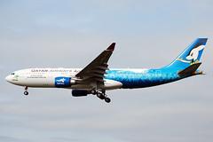 A7-ACG  A330-202  Qatar Airways (n707pm) Tags: a7acg airbus a330 330 330202 airport airplane airline aircraft specialcs qatar qatarairways 15thasiangamesdoha2006 officialairlineofasiangames qtr lhr egll heathrow londonairport heathrowairport 11032009 cn743 doha2006