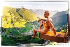 Mirador (Unos y Ceros) Tags: pirineos esculturadecrtex miradordelrocdequer 500metros canillo and textura luz unosyceros 2016 lightroom nikond700 zaragons zaragoneses