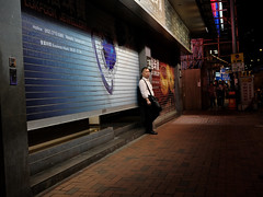 """""""i've been waiting"""" (hugo poon - one day in my life) Tags: xt2 23mmf2 hongkong northpoint kingsroad citynight colours longnight solitude waiting"""