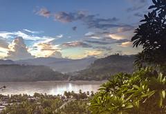 Laos : Luang Prabang, sunset #2 (foto_morgana) Tags: analogphotography analogefotografie asia clouds landscape laos lightroom mountainous nikoncoolscan panoramic photographieanalogue scenic sky sunset tourism travelexperience vuescan