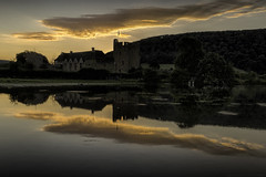 Stokesay Castle sunrise (explored 12/9/16 briefly #7) (MarkWaidson) Tags: stokesay castle pool reflection sunrise clouds