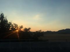 (yanitzatorres) Tags: landscape paisaje montaas emocin contraluz rayosdeluz sol desdeelcoche autopista carretera spain spanish espaa atardecer