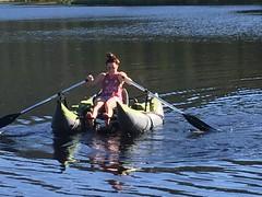Lake Fun (Stones-59) Tags: pontoon lake boat oar reflection ripple uintahs utah kylesecretan