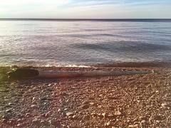 Buried log (thechelseagrin) Tags: lakesuperior beach nature keweenawpeninsula sunsetbay upperpeninsula michigan