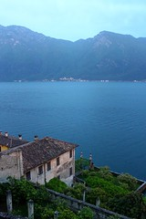 View from Limone sul Garda to the eastern side of Lago di Garda. (elsa11) Tags: limonesulgarda lagodigarda lakegarda gardasee gardameer navene bluehour italy italia italië brescia lake meer see lago