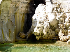 Lion - Bernini's - Fontana dei Quattro Fiumi or Fountain of the Four Rivers a (litlesam1) Tags: italy rome soloromejuly2016 july2016 fountains