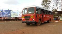 Ratnagiri's city bus on lanja - panhale local route (yogeshyp) Tags: lanja msrtc st