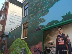 Max Verstappen in Amsterdam (Comicbase) Tags: signs streetart amsterdam quote formula1 redbull spinoza abri vondelstraat filosoof maxverstappen