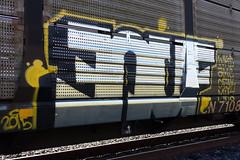 Enuf (monolithic landmarks) Tags: train graffiti graffitti boxcar graff amc freight autorack wkt