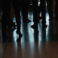 high heels (me*voilà) Tags: people abstract feet travels silhouettes onblue