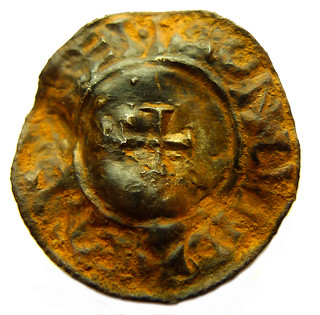 Aethelred penny - 2nd stage of cleaning rev