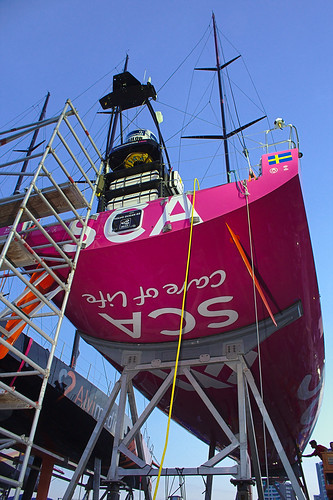 The Magenta boat at The Boatyard