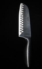 Knifes Edge (Jim Kazujo) Tags: blackandwhite bw black canon stainlesssteel knife sharp lightmeter homestudio elinchrom 1785is 40d dlite4