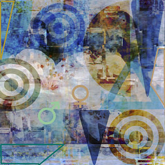 Spring Composition with Blossom and a Hint of Leger (virtually_supine) Tags: abstract photomanipulation digitalart creative textures layers cubism hss fernandleger springblossom happysliderssunday photoshopelements9 tmichallengeinthestyleof…braquefeiningerleger pse9effectstilesextrudeoffset