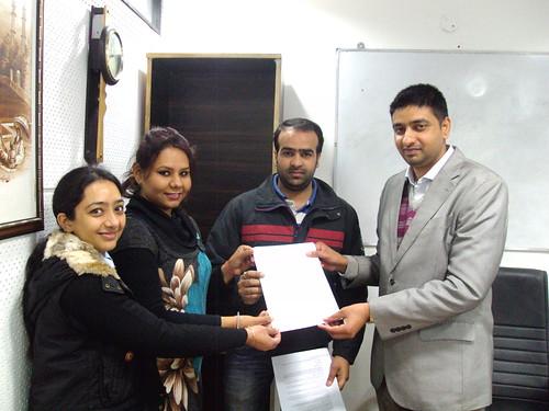 Vernika Puri Receiving Australia Study Visa From Director