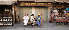 Three Men Waiting in the Market (micheltheriault) Tags: doha quatar