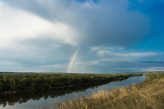 DSC04737 (reinoldson) Tags: road river landscape rainbow fishing sony dune off don sands landrover a6000