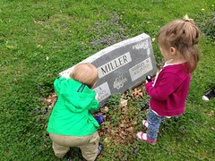 "Paul and Inde at Grandpa Paul Miller's Grave • <a style=""font-size:0.8em;"" href=""http://www.flickr.com/photos/109120354@N07/17647133249/"" target=""_blank"">View on Flickr</a>"