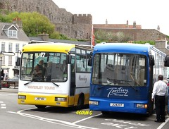 Final stop (Coco the Jerzee Busman) Tags: uk blue bus islands coach camo renault cannon jersey swift dennis tours dart channel leyland lcb plaxton tantivy