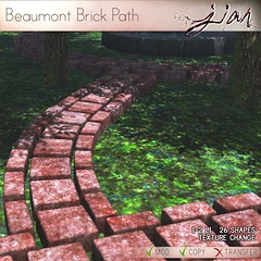 Jian - Beaumont Brick Path (L$25 Tuesday 5/18/15) ([JIAN]) Tags: life new brick home garden outdoors layout discount mesh path release bricks decoration ground special secondlife tuesday deal second decor jian pathway paved kalia bricked l25 firelyte