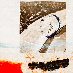 No Life (Thomas Hawk) Tags: california usa museum painting losangeles unitedstates unitedstatesofamerica robertrauschenberg moca rauschenberg museumofcontemporaryartlosangeles manwithwhiteshoes untitledcombine