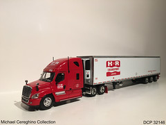 """Diecast replica of H And R Transport Freightliner Cascadia with """"Tri-Dem"""" Reefer, DCP 32146 (Michael Cereghino (Avsfan118)) Tags: hr transport h and r freightliner cascadia semi truck trucking diecast die cast replica model toy 164 scale dcp 32146"""