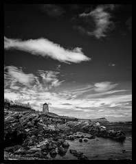 St Monans Windmill, St Monans, East Neuk of Fife, Scotland (stuartallan38) Tags: blackandwhite wideangle nikond7100 sigma1020 scotland stmonans windmill