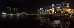 City Lights (ben_leash) Tags: city urban panorama black water fountain statue night marina dark bay harbor singapore southeastasia downtown cityscape nightlights skyscrapers sony panoramic f28 a77 marinabay marinabaysands