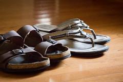 Beneath my feet - summertime shoes (tarboxje) Tags: shoes sandals birkenstock hardwood hardwoodfloor