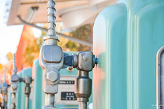 Fill 'Er Up (The Mr and The Mrs) Tags: california vacation sunlight field nikon pumps disneyland magic parks disney gas anaheim depth californiaadventure lightroom disneyparks travelingtuesday carsland disneyphotography greaterthangatsby wwwthemrandthemrscom