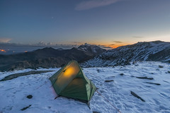 'Twilight Camp' - Glyder Fach, Snowdonia (Kristofer Williams) Tags: winter camp snow mountains wales landscape twilight dusk peak tent snowdon summit horseshoe snowdonia massif vango wildcamp glyderfach