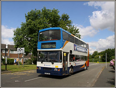 16696 and the way of the Admiral............ (Jason 87030) Tags: sky cloud sun man color colour bus public car canon volvo town flickr estate shot tag transport sunny vehicle northants stagecoach d2 doubledecker oly olympian daventry southbrook northaptonshire admiralsway r696dnh
