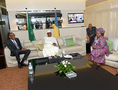 President Kagame meets with President Idriss Deby of Chad and Nkosazana Dlamini-Zuma,  Chairperson of the African Union on the sidelines of African Union Summit   Kigali, 15 July 2016 (Paul Kagame) Tags: kagame rwanda au african union africa kigali summit