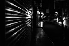 Boundaries / Once upon a distant night in stanbul (zgr Grgey) Tags: 2016 35mm bw d750 dxonfx darkcity karaky nikon evening lines lowlight street istanbul