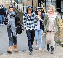 (One Direction Archive) Tags: blue white walking hoodie fulllength trainers liam fans blacktshirt battersea rehearsals hooded checkedshirt onedirection xfactorfinalists demimjeans