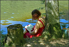 What you can do on a hot summer day (pergi28) Tags: summer lake blackforest nonnenmattweiher