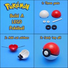 Build your own Pokeball (cmaddison) Tags: lego pokemon pokemongo pokeball nintendo videogame toy