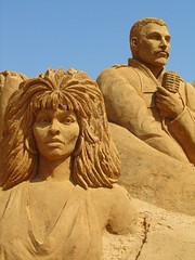 Sculptures de sable (pchan22) Tags: pera portugal freddy mercury tina turner tinaturner freddymercury sable art