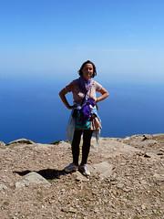 Proud on the top (angeloska) Tags: ikaria hikingtrails opsikarias aegean greece signage    saveatheras girl hiker ridge april ikarianview