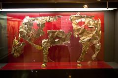 Silver Statue of a Bull, Delphi (Andy Hay) Tags: 2016 bull delfoi delphi delphiarchaeologicalmuseum greece lightroom offerings phocis room4 sanctuaryofapollo silver delfi thessaliastereaellada