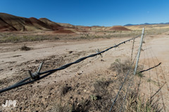 Keep Out (awdftw!) Tags: painted hills adventure outdoors hiking eastern oregon explore fence wide angle landscapes landscape colors sunrise sun warm vibrant color canon sigma 7dmkii jaren morris photography production