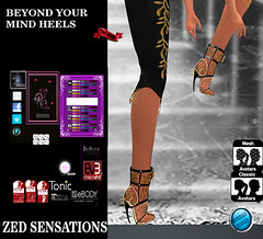 Beyond your mind HEELS (Zed Sensations) Tags: evemesh isis venus heels shoes ankle boots mesh fitmesh project physique hourglass curvy fine casual fantasy roleplay formal cocktail vampire botas sapatos eve pulpy slim slink