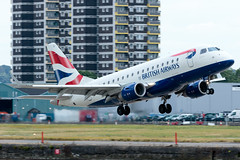 BA CityFlyer - Embraer ERJ-170STD - G-LCYF  London City Airport (paulstevenchalmers) Tags: ba cityflyer embraer london londoncity lcy airport