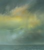 Yellow storm at sea  80 x 90cm