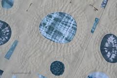 Shibori Dyed. (Jayne ~ Twiggy & Opal) Tags: handdyedfabric shibori handquilting handstitching improvquilt miniquilt