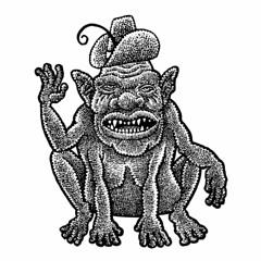 Gregarious gargoyle (Don Moyer) Tags: gargoyle ink drawing brushpen notebook moyer donmoyer creature