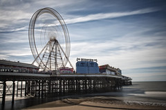 'Wheely Extreme'... (Taken-By-Me) Tags: takenbyme blackpool pier tower lancs lancashire sun sand sea view clouds sky moving slow seaside holiday beach big wheel bigwheel attractions lights nikon d750