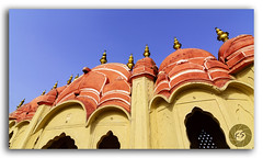Beautiful angle of Hawa Mahal Palace (Palace of Winds), Jaipur (KS Photography!) Tags: hawa mahal hawamahal havamahal windpalace palaceofwinds breeze palace sandstone historic architecture rajput famous attraction history landmark structure crownofkrishna hindu god fivestorey exterior windows jharokha latticework interior pyramidalshape monument dome colorful sand stone pinkcity heritage architecturalheritage hindurajput islamic mughal facade vintage outdoor building jaipur rajasthan india lowangle lowerangle
