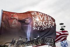 """""""We Will Never Forget 9-11-2001"""" Flag (Tony Webster) Tags: 9112001 911 americanflag crystal goldenvalley highway100 minnesota september11 usflag flag neverforget wewillneverforget unitedstates us"""